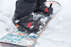 Zamyka up snowboard Obrazy Stock
