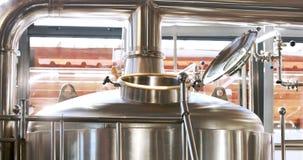 Zamyka up stalowy zbiornik robić piwu zbiory wideo