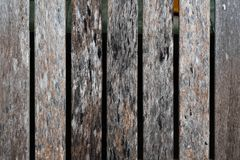 Zamyka up stary brown drewniany lath z naturalnym pasiastym tłem obraz stock