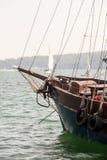 Zamyka up stary drewniany statek Zdjęcia Stock