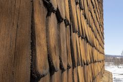 Zamyka up stary typ drewniany panel Fotografia Stock