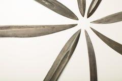 Zamyka up starzy nożowi ostrza i kordziki Zdjęcie Stock
