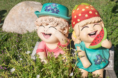 zamyka up, Szczęśliwe lale dla ogródu Fotografia Royalty Free