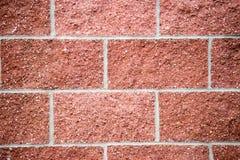 Zamyka up szczegółowa tekstura czerwony ściana z cegieł Obrazy Royalty Free