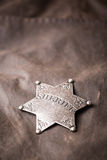 Zamyka up szeryf odznaka Obrazy Stock