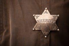Zamyka up szeryf odznaka Obrazy Royalty Free