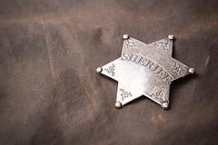 Zamyka up szeryf odznaka Obraz Stock