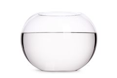 Zamyka up szklany akwarium woda pełno Obraz Royalty Free
