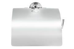 Zamyka up toaletowa rolka i właściciel w łazience & x28; paper& x29; obrazy stock