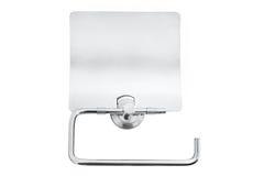 Zamyka up toaletowa rolka i właściciel w łazience & x28; paper& x29; obraz stock