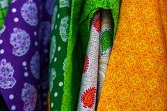 Zamyka up tradycyjna kolorowa indyjska odzież Zdjęcie Royalty Free