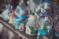 Zamyka up Trulli ceramiczni domy Zdjęcia Royalty Free