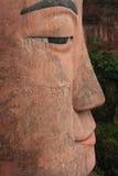 Zamyka up twarz Leshan gigant Buddha Obrazy Stock