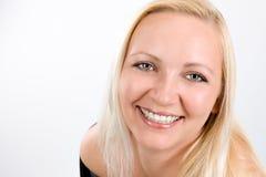 Zamyka up uśmiechnięta kobiety twarz Obraz Stock