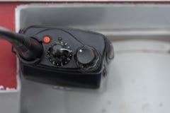 Zamyka up walkie talkie kontrola Obraz Stock