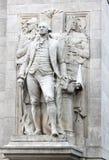Zamyka up ` Waszyngton towarzyszący mądrości i sprawiedliwości ` Aleksander Stirling Calder obraz stock