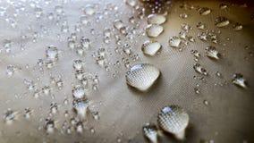 Zamyka up waterdrops na deszczowu Zdjęcia Stock