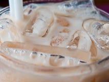 Zamyka up wierzchołek Tajlandzka dojna herbata zdjęcie stock