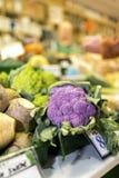Zamyka up wyśmienicie i colourful wibrujący purpurowy kalafior a Fotografia Royalty Free