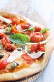 Zamyka up wyśmienita pizza Zdjęcia Stock