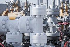 Zamyka up zamarznięty gazu naturalnego rurociąg Zdjęcia Stock