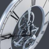Zamyka up zegar z przekładniami Obraz Stock