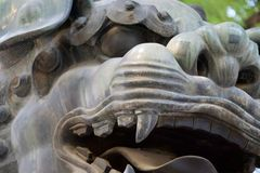 Zamyka w górę Chińskiej ustawy smok, lew w Chiny/ obrazy stock