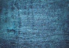 Zamyka w górę błękitnej drelichowej tekstury z pustą kopii przestrzenią Obraz Royalty Free