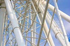 Zamyka w górę białych drymb Ferris koło Zdjęcia Stock