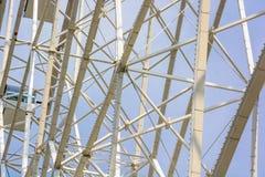 Zamyka w górę białych drymb Ferris koło Obrazy Royalty Free