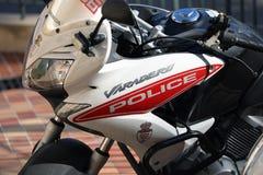 Zamyka W górę Bocznego widoku Monaco polici motocykl obrazy royalty free