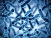 Zamyka w górę chromosomu grona 3d renderingu ilustraci royalty ilustracja