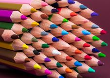 Zamyka W górę Coloured Ołówkowych porad obrazy stock