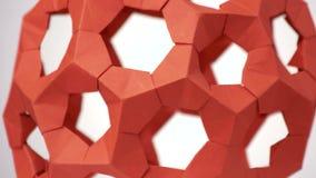 Zamyka w górę czerwonego płodozmiennego modularnego origami ilustracja wektor