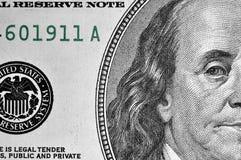 Zamyka w górę dolarowego rachunku zdjęcie stock