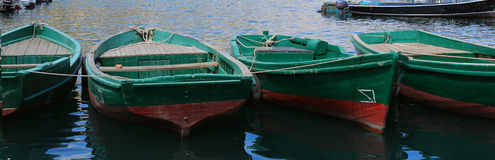 Zamyka w górę Drewnianych łodzi Obrazy Royalty Free