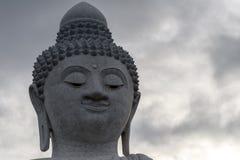 Zamyka W górę Dużej Buddha głowy Fotografia Stock