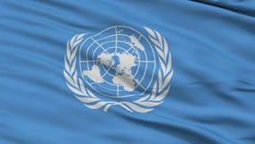 Zamyka W górę falowanie flaga naród zjednoczony ilustracja wektor