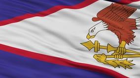 Zamyka W górę falowanie flaga państowowa amerykanin Samoa ilustracja wektor