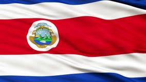 Zamyka W górę falowanie flaga państowowa Costa Rica ilustracja wektor