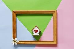 Zamyka w górę fotografii dla Szczęśliwego Macierzystego ` s dnia na pastelu cukierku Colours tle Obrazy Royalty Free
