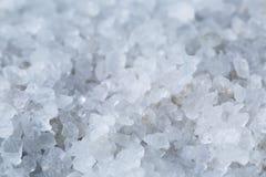 Zamyka w górę fotografii morze soli kryształy Obrazy Stock