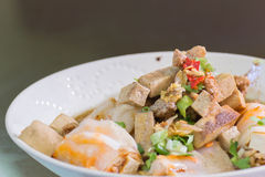 Zamyka w górę kluski karmowego tajlandzkiego stylu zdjęcie royalty free