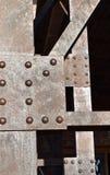 Zamyka w górę metali barów na moście zdjęcie stock