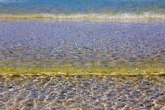 Zamyka w górę morze fala z światła słonecznego odbicia skutkiem Zdjęcia Stock
