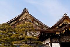 Zamyka w górę Ninomaru pałac, Nijo kasztel Zdjęcia Royalty Free