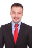 Zamyka w górę obrazka przystojny młody biznesowy mężczyzna Zdjęcie Stock