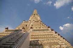 Zamyka w górę obrazka Wata Arun świątynia w Bangkok obraz stock