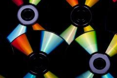 Zamyka w górę odbić i kolorów na płytach kompaktowa 2 Zdjęcia Royalty Free