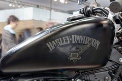 Zamyka w górę paliwowego zbiornika motocyklu Sportster żelazo 883 Zdjęcie Stock